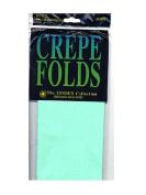 Cindus Crepe Paper Folds sea foam green [PACK OF 6 ]