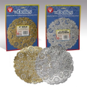 Hygloss Round Doilies - 12 Pack, 30cm Gold