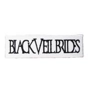 12cm X 3.3cm Black Veil Brides Embroidered iron on patch metal punk hip hop band logo for t shirt hat jacket