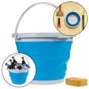 Simply Genius Foldable Silicone 10L Bucket 9.8l Collapsible Clean Camp Car
