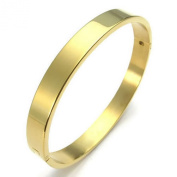 KONOV Jewellery Polished Stainless Steel Bangle Cuff Bracelet, Unisex Mens Womens, Colour Gold