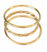 14k Gold Filled Trio Set Midi Above the Knuckle Toe Rings