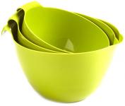 Linden Sweden 3-Piece Mixing Bowl Set, Green Apple