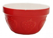 Mason Cash Steam Bowl (British Term - Pudding Basin), Strawberry, 0.9l Capacity, 16cm Diameter, 8.9cm Height
