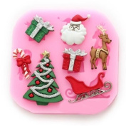 Longzang #534 mini Christmas Fondant Mould Silicone Sugar mould Craft Moulds DIY gumpaste flowers Cake Decorating