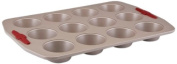 Paula Deen Signature Nonstick Bakeware with Red Grips 12-Cup Muffin and Cupcake Pan