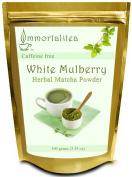 White Mulberry Tea Powder   Matcha Style Green Tea Powder Made From Pure White Mulberry Leaves   Brews Beautiful Traditional Matcha or Latte   Great for Baking and Smoothies   Powerful All Natural Blood Sugar Control and Weight Loss Benefits  100% Mone ..