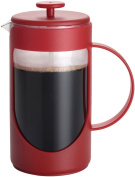 BonJour Ami-Matin Unbreakable BPA-Free French Press, Rouge Red, 8-Cup