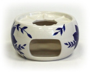 Blue Blossoms Teapot Candle Warmer by Hues & Brews