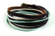 Soft Leather Multicolour Ropes Women Leather Bracelet Women Wrap Cuff Bracelet SL2284