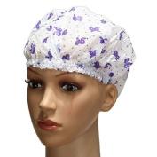Plastic Lace Waterproof Shower Caps Protect Hair Caps