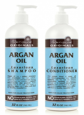 Renpure Originals Argan Oil Luxurious Shampoo and Conditioner, 950ml Bottles