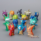 Cute New Movie Cartoon Slugterra Pvc Action Figures Toys 16pcs/set S Boys Toys Dsfg072