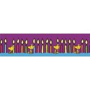 Eureka Peanuts Birthday Deco Trim, Includes 12 Strips, Each 90cm Long