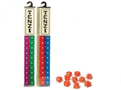 Tenzi 2 Pack for 8 Players - Assorted Colours - 8 Sets of Ten Dice