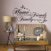 Free Will Home is Where We Treat Our Friends Like Family and Our Family Like Friends Wall Lettering Quotes and Sayings Home Art Decor Decal