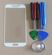 White for Samsung Galaxy S4 SIV i9500 Replacement Front Screen Glass Lens & Tool Kit