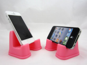 PhoneProp - Universal Fit Soft Flexible SmartPhone Stand - Bubble Gum Pink - FDA Grade Silicone