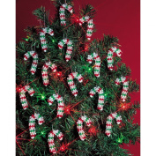 Beadery Holiday Beaded Ornament Kit, 5.1cm , Mini Candy Canes, Makes 24 Ornaments