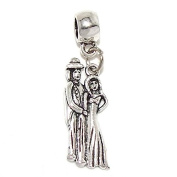 """Jewellery Monster Dangling """"Husband and Wife"""" Charm Bead for Snake Chain Charm Bracelets 35357"""
