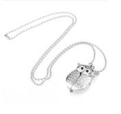Demarkt Girl Women's Owl Watch Necklace Pendant Pocket Watch
