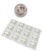 STAINLESS STEEL CLEAR EARRING STUD