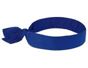 Ergodyne Chill-Its 6700 Evaporative Cooling Bandana - Tie, Solid Blue