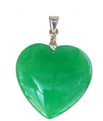 Heart Shaped Natural Jade Pendant - PD003