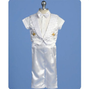 Angels Garment Baby Boys White Pants Set Christening Outfit 12-18M