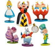 6pcs/set 10cm  Alice In Wonderland Figures Toys,alice In Wonderland Figures For Kids S