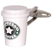 Espresso Coffee Cup Cufflinks Starbucks Morning Office. Box & Cleaner