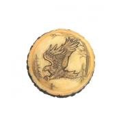 Eagle Faux Carved Wood Trinket Box