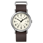 Timex Weekender Full Size Analogue Watch-Brown Leather