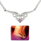 SEXY! Pink Tribal Swirl Heart Lower Back Belly waist chain fashion body jewellery