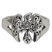 Sterling Silver Raven Pentacle Toe Ring Wiccan Pentagram Jewellery