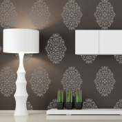 J BOUTIQUE STENCILS Damask Wall Stencils Pattern Reusable Wall Stencil Claudia - M size - for DIY Wallpaper Look