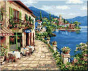 Diy oil painting, paint by number kit- Holiday of spring 16*50cm .