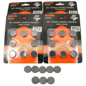 Lot Of 40 Round Disc Type Magnets For All Crafts 1.9cm