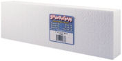 Smoothfoam Block Crafts Foam for Modelling, 2 by 10cm by 30cm , White