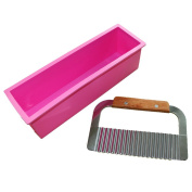 Pro. Soap Silicone Mould Loaf Wavy Stainless Steel Soap Cutter Slicer Makes