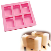 6-cavity Plain Basic Rectangle Soap Mould Silicone Mould for Homemade Craft