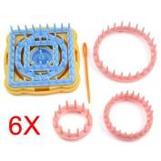 TOOGOO(R) 9PCS Flower Knitting Loom Flower Pattern Maker Wool Yarn Needle Knit Craft
