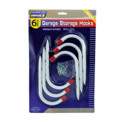 Sterling Garage Storage Blister Card With Hanging Metal Hooks Pack of 4