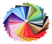 SDBING DIY Polyester Felt Fabric Nonwoven Sheet for Craft Work 42Colors 15*15cm