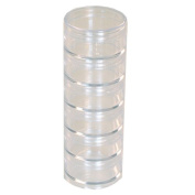 Storage Stackable Clear Containers 6 For Beads Crafts Findings Other Small Items 4.4cm Round