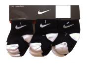 Nike Infant Baby Socks BlackWhite 6 Pairs, Size 12-24 Months