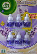 """Air Wick Deluxe Collection ~ """"Lavender & Chamomile"""" 6-PACK Scented Oil Fragrance Refill Bottles"""