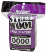 Red Devil 0320 8-Pack Steel Wool, 0000 Super Fine