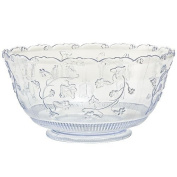 Party Dimensions 1 Count Plastic Punch Bowl, 11.4l, Clear