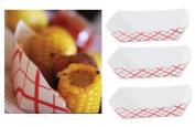 Red Checker Paper Food Tray 50 Ct